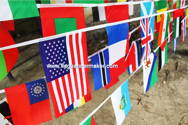 Country bunting flags