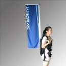 Backpack walking banner