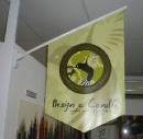 Vinyl wall flags
